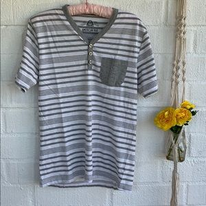 American Rag Striped V neck Shirt